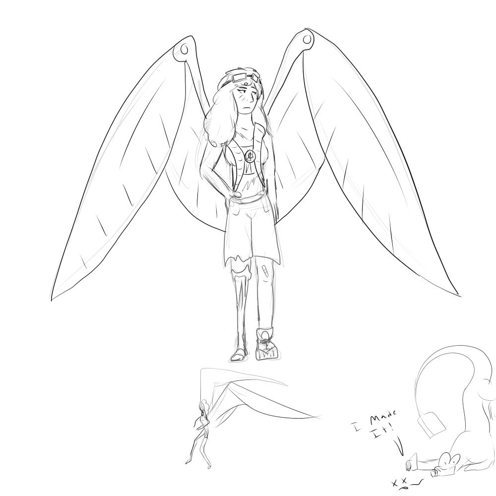 30-Wing pack girl